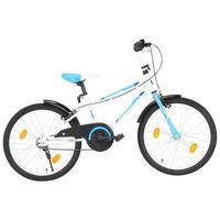 vidaXL Rower dla dzieci, 20 cali, niebiesko-biały