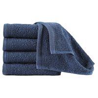 vidaXL Ręczniki hotelowe, 10 szt., bawełna 450 g/m², 30x50 cm, granat