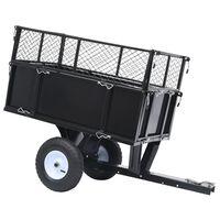 vidaXL Przyczepka do traktorka ogrodowego z odchylaną platformą 150 kg
