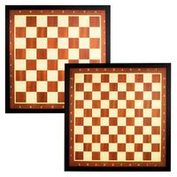 Abbey Game Szachownica z krawędzią, brązowa, 49CD
