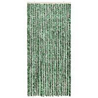 vidaXL Zasłona przeciwko owadom, zieleń i biel, 100x220 cm, szenil