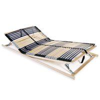 vidaXL Stelaż do łóżka z 42 listwami, 7 stref, 120 x 200 cm
