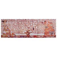 vidaXL Zestaw obrazów przedstawiający drzewo, żółty, 120x40 cm
