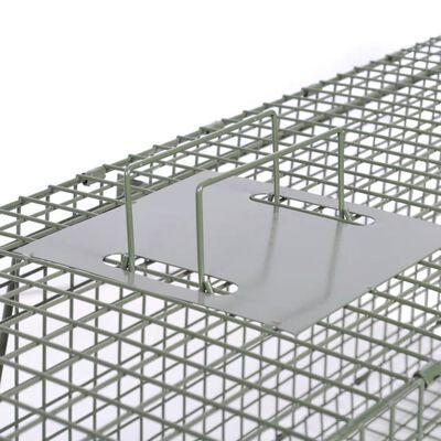 vidaXL Pułapka żywochwytna z 2 drzwiczkami, 150 x 30 x 30 cm