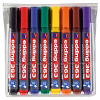 edding Markery do tablic suchoscieralnych, 8 szt., kolorowe, 363