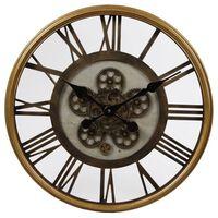 Gifts Amsterdam Zegar ścienny Radar Open, złoty mosiądz, 54,5 cm