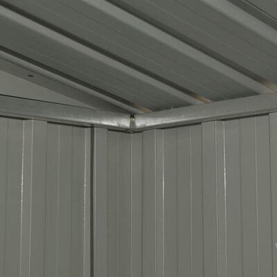 vidaXL Szopa ogrodowa, antracytowa, stalowa, 204x132x186 cm