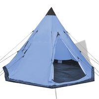 vidaXL Namiot 4-osobowy, niebieski