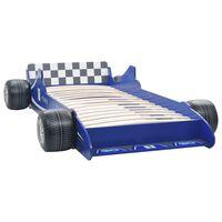 vidaXL Łóżko dziecięce w kształcie samochodu, 90x200 cm, niebieskie