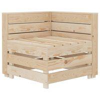 vidaXL Narożna sofa ogrodowa z palet, drewniana