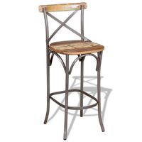 vidaXL Krzesło barowe, lite drewno odzyskane