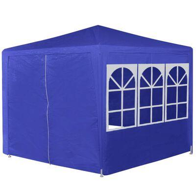 vidaXL Namiot ogrodowy z 6 panelami bocznymi, 2x2 m, niebieski