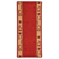 vidaXL Dywanik z żelowym spodem, czerwony, 67 x 200 cm