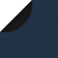 vidaXL Pływająca folia solarna z PE na basen, 381 cm, czarno-niebieska