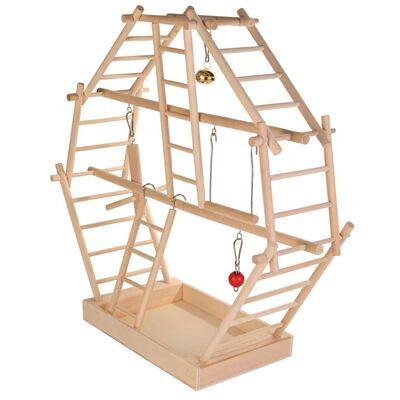 TRIXIE Plac zabaw dla ptaków, 44x44x16 cm, drewniany, 5659
