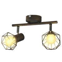Reflektor sufitowy w industrialnym stylu z 2 żarówkami LED