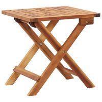 vidaXL Składany stolik ogrodowy, 40x40x40 cm, lite drewno akacjowe