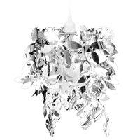 vidaXL Lampa z abażurem w kształcie liści, 21,5 x 30 cm, srebrna