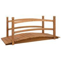 vidaXL Mostek ogrodowy, 140x60x60 cm, lite drewno jodłowe
