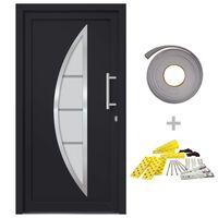 vidaXL Drzwi wejściowe zewnętrzne, antracytowe, 108 x 200 cm