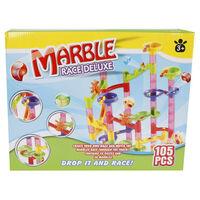 Marble racing Tor dla kulek Deluxe, zestaw 105 elementów