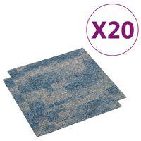 vidaXL Podłogowe płytki dywanowe, 20 szt., 5 m², niebieskie