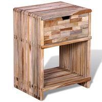 vidaXL Szafka nocna z odzyskanego drewna tekowego z szufladą