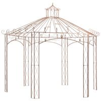 vidaXL Pawilon ogrodowy, antyczny brąz, 4 m, żelazo
