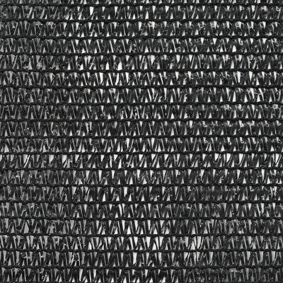 vidaXL Siatka ochronna do kortu tenisowego, HDPE, 1,4x50 m, czarna