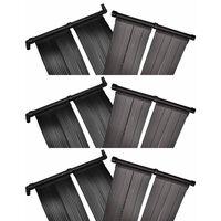 vidaXL Panele solarne do podgrzewania basenu, 6 szt., 80x620 cm