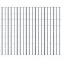 vidaXL Panele ogrodzeniowe 2D, 2,008 x 1,63 m, 32 m, szare