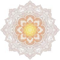 HIP Ręcznik plażowy 2068-H Jayden, kształt kwiatu, 160 cm, kolorowy