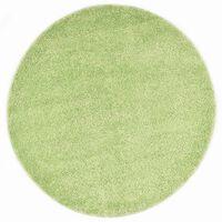 vidaXL Dywan shaggy, 120 cm, zielony