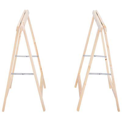 vidaXL Składane stojaki do piłowania drewna, 2 szt., sosna
