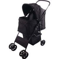 FLAMINGO Wózek dla psa Anda, czarny, 46 x 81,5 x 98 cm