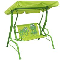 vidaXL Huśtawka dla dzieci, zielona