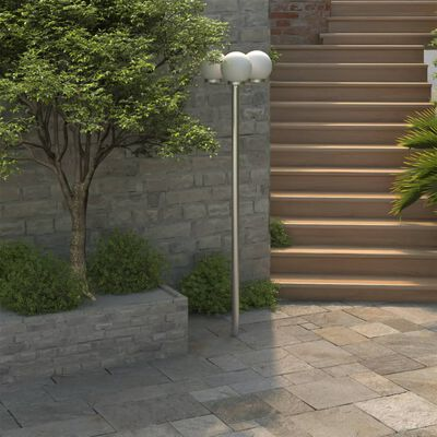 Latarnia ogrodowa o wysokości 220 cm  z 3 lampami