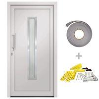 vidaXL Drzwi wejściowe zewnętrzne, białe, 108 x 208 cm