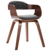 vidaXL Krzesło stołowe, ciemnoszare, gięte drewno i sztuczna skóra