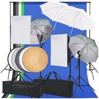 vidaXL Zestaw lamp studyjnych i akcesoriów