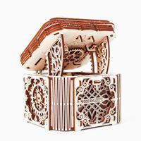 WOODEN CITY Drewniana szkatułka, zestaw modelarski
