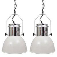 vidaXL Nowoczesne lampy sufitowe, 2 szt., regulowana długość, białe