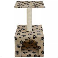 vidaXL Drapak dla kota ze słupkiem sizalowym, 55 cm, beż w kocie łapki