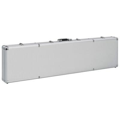 vidaXL Futerał na broń, srebrny, 134 x 35 x 12 cm, aluminium
