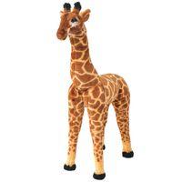 vidaXL Pluszowa żyrafa, stojąca, brązowo-żółta, XXL