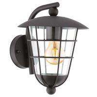 EGLO Zewnętrzna lampa ścienna Pulfero, czarna