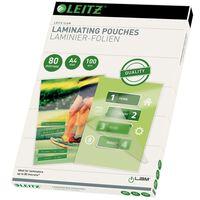 Leitz Folie do laminowania, 80 mikronów, A4, 100 szt.