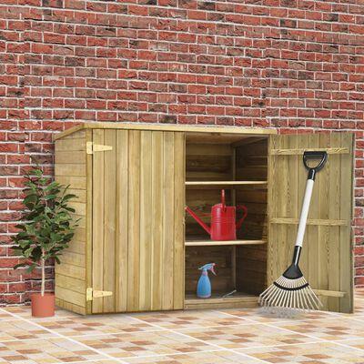 vidaXL Szopa na narzędzia, 135x60x123 cm, impregnowana sosna
