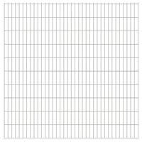 vidaXL Panele ogrodzeniowe 2D, 2,008 x 2,03 m, 16 m, srebrne