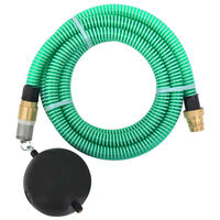 vidaXL Wąż ssący z mosiężnymi złączkami, 5 m, 25 mm, zielony